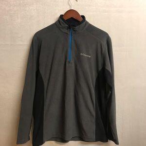 Men's Columbia Quarter Zip Up Pullover-Medium